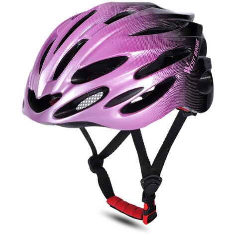 WEST BIKING Cascos de bicicleta MTB Carretera Cascos de bicicleta Gorra de seguridad Protecciones de ciclismo Cascos, morado y negro