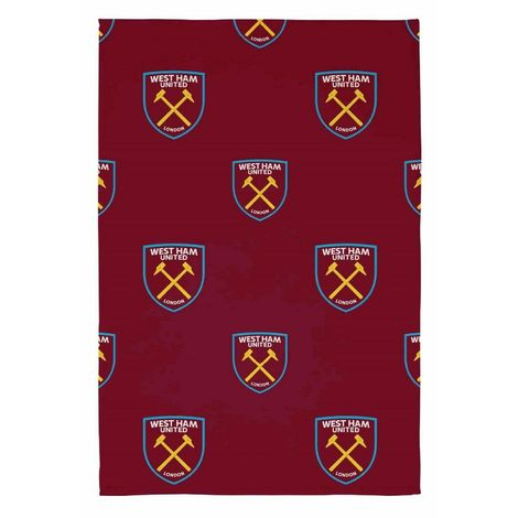 West Ham United FC Fleece Throw Blanket (One Size) (Red)