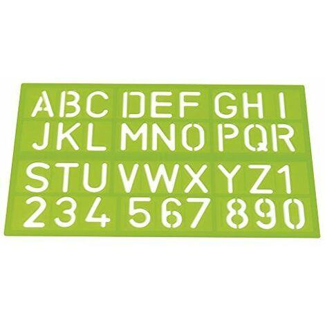 Westcott 1060000trace-lettres, lettres et chiffres, 40mm 3couleurs assorties