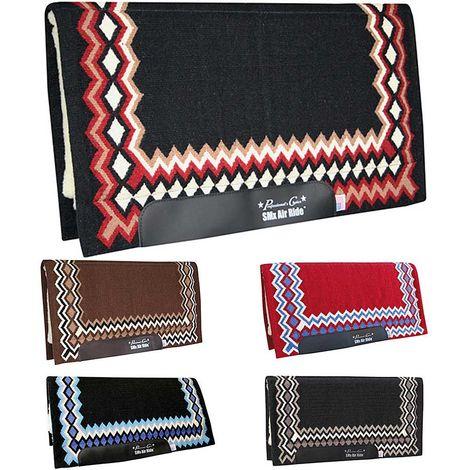 Western Show Shilloh sous siège avec rembourrage Air Ride en tissu navajo et laine avec renforts en cuir Professional Choice