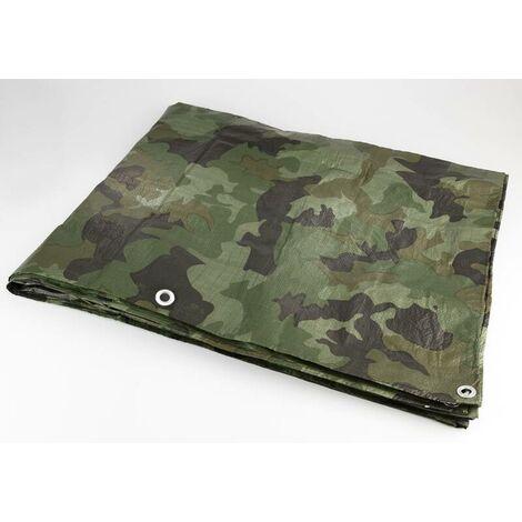 Westfalia Bâche de protection imperméable pour le bois - imprimé camouflage - 1,5 x 12 m - 90 g/m²