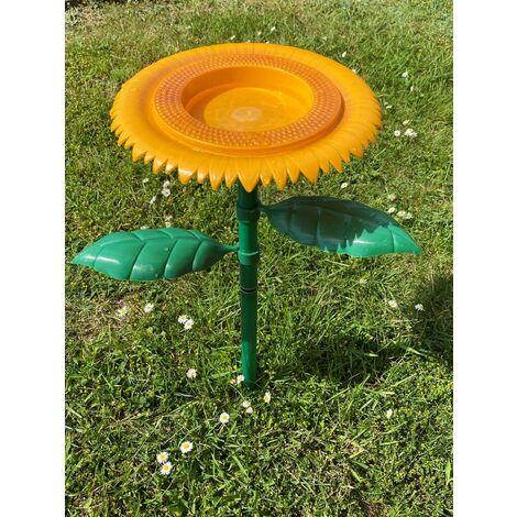 Westfalia Bain pour oiseaux forme tournesol à planter dans le sol