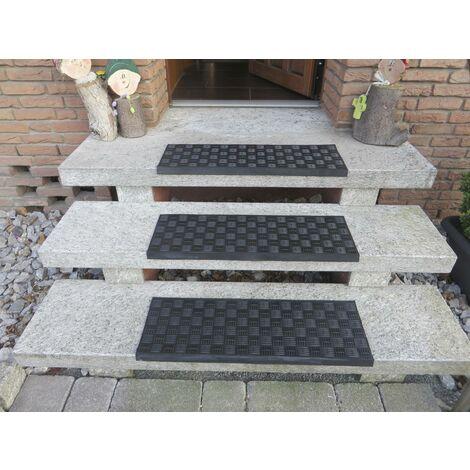 Westfalia Bande de revêtement antidérapant caoutchouc pour marches d'escalier extérieur - couleur noir