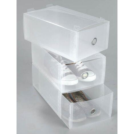 Westfalia Boîtes de rangement chaussures transparentes - 34 x 21 x 13 cm - lot de 3