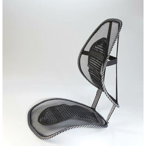 Westfalia Coussin de soutien lombaire en maille pour siège automobile - Sit 'n' Relax - 40 x 39 cm
