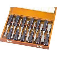 Westfalia Ensemble de 12 ciseaux à bois japonais (Nomi)