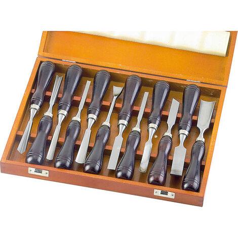 Westfalia Ensemble de ciseaux japonais à sculpter le bois - 12 pièces