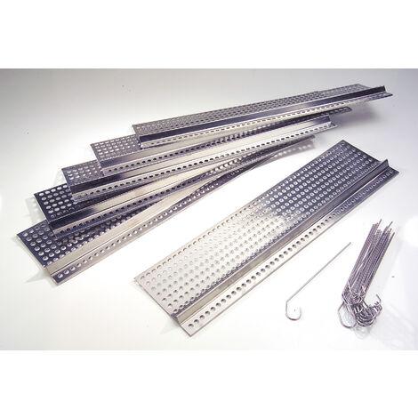 Westfalia Grilles de gouttière en acier inoxydable - longueur 50 cm x profondeur 12,5 cm - lot de 6 pièces