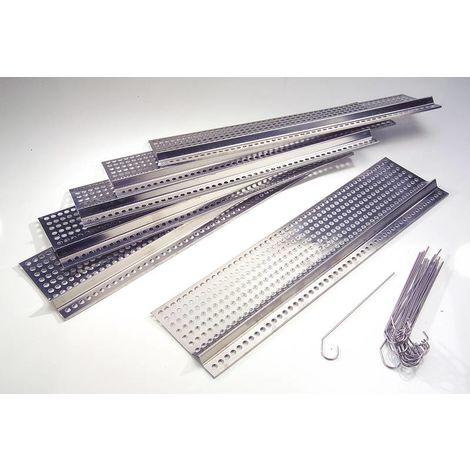 Westfalia Grilles de gouttière en acier inoxydable - longueur 50 cm x profondeur 15 cm - lot de 18 pièces