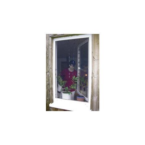 Westfalia Moustiquaire pour fenêtre cadre fixe - 100 x 100 cm - encadrement blanc