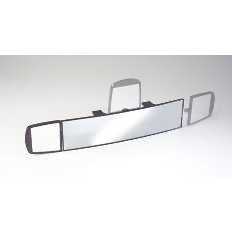 Westfalia Rétroviseur intérieur grand angle 280 x 78 mm + miroir supplémentaire 70 x 78 cm