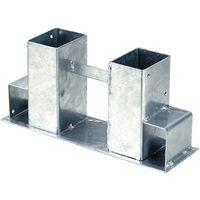 Westfalia Support pour range-bûches en acier galvanisé à chaud (lot de 2 unités)
