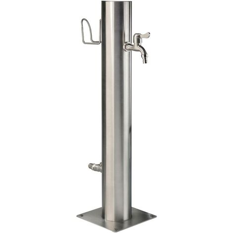 Westfalia Wasserwelten Distributeur d'eau, acier inoxydable, y compris support de tuyau + 2 robinets