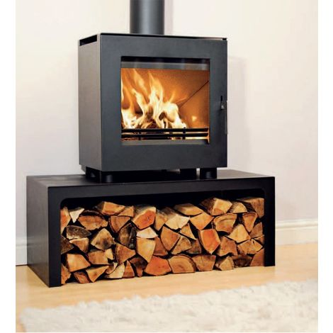 Westfire Uniq 23 DEFRA Approved Wood Burning Stove with Log Stand