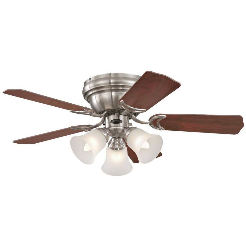 Ventilatore a Soffitto Contempra E27, Nichel Spazzolato - Westinghouse