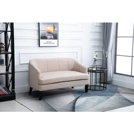 WestWood 2 Seater Sofa Fabric 8103B Cream