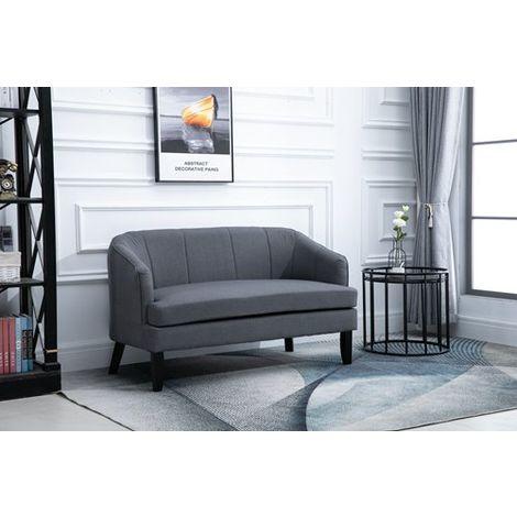 WestWood 2 Seater Sofa Fabric 8103B Grey