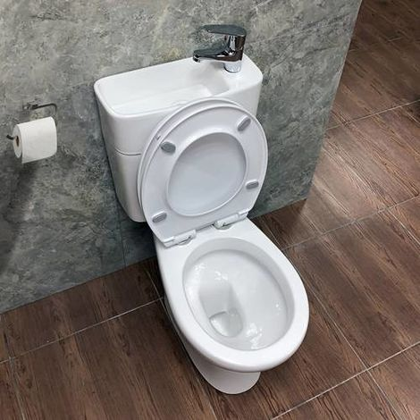WestWood 2IN1 Toilet With Basin TBS01 White