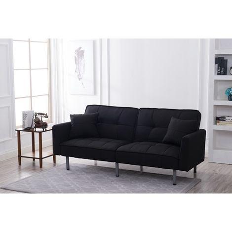 WestWood 3 Seater Fabric Sofa Bed WW-FSB11 Black