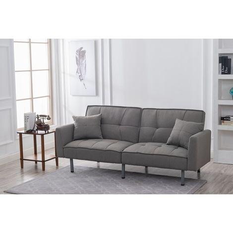 WestWood 3 Seater Fabric Sofa Bed WW-FSB11 Grey