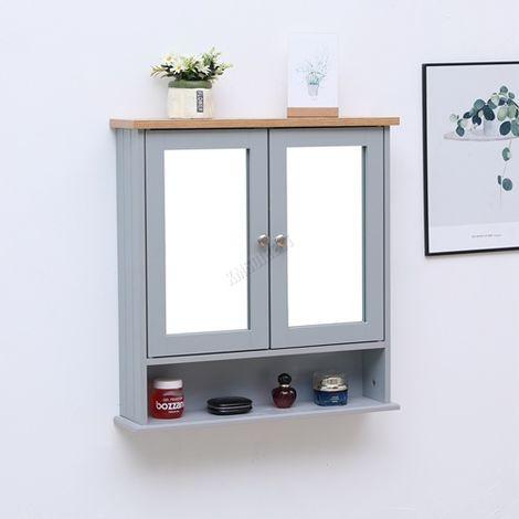 WestWood Bathroom Furniture Range 01 - Wall Cabinet Grey