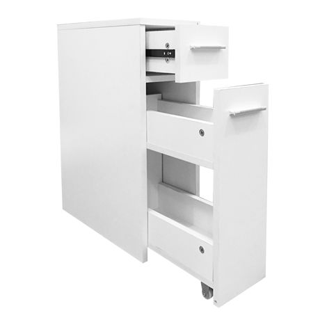 WestWood Bathroom Slim Cabinet BC07 White