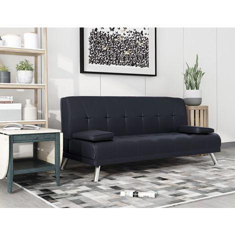 WestWood Chunky Sofa Bed Black