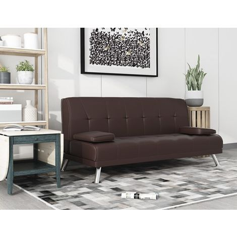 WestWood Chunky Sofa Bed Brown