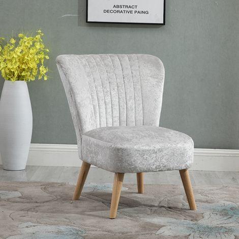 "main image of ""WestWood Crush Velvet Accent Chair 1300 Cream"""