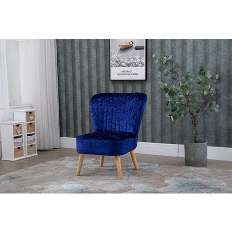 WestWood Crush Velvet Accent Chair 1300 Navy