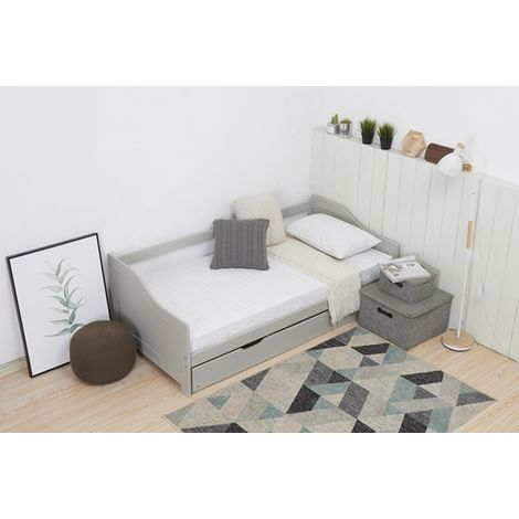 WestWood Daybed Single Wood With Trundle No Mattress Grey
