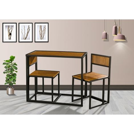 WestWood Dining Table and 2 Chairs Set WW-DS14 Walnut