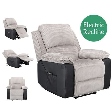 """main image of """"WestWood Electric Recliner Sofa WW-RS-06 Light Grey"""""""