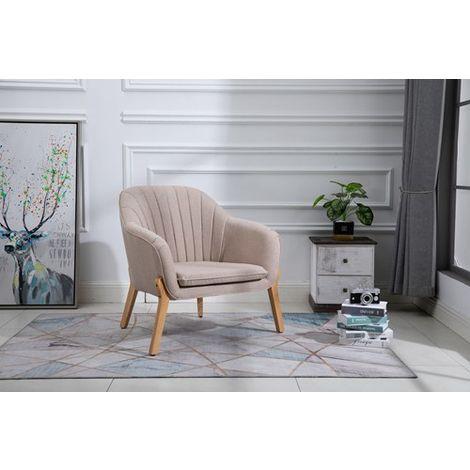 WestWood Fabric Armchair FA02 Cream