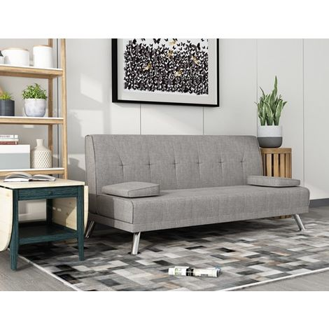 WestWood Fabric Chunky Sofa Bed Grey