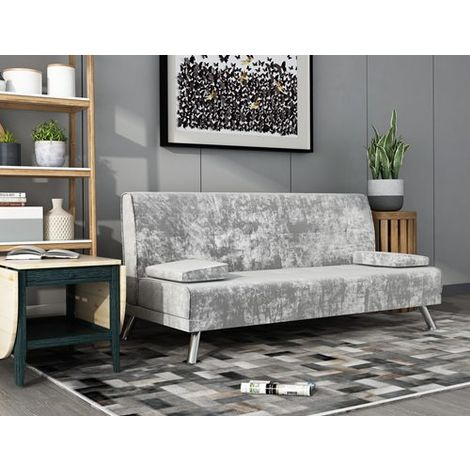WestWood Fabric Chunky Sofa Bed Velvet Grey