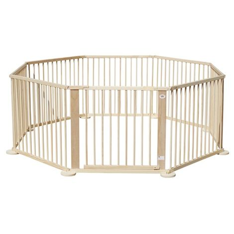 WestWood Foldable Wooden Baby Playpen 8 Side