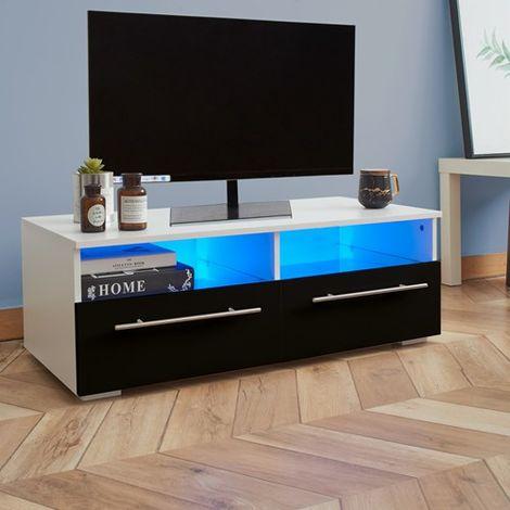 WestWood High Gloss LED TV Cabinet TVC04 Black