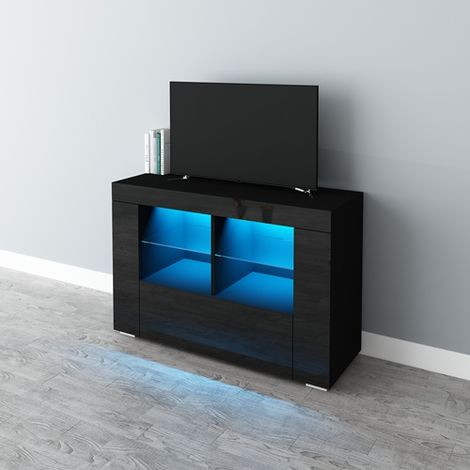 WestWood High Gloss LED TV Cabinet TVC15 Black