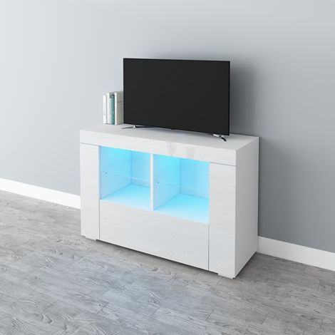 WestWood High Gloss LED TV Cabinet TVC15 White