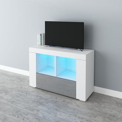 WestWood High Gloss LED TV Cabinet TVC15 White and Grey