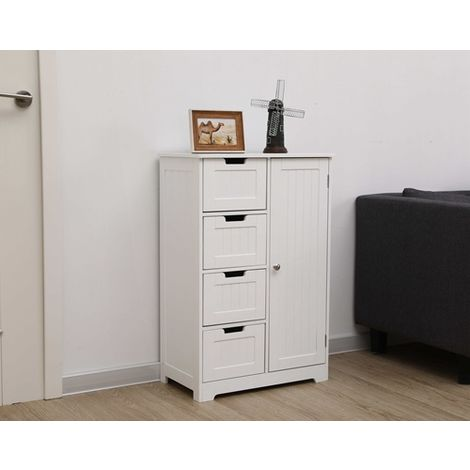 WestWood MDF Bathroom Storage BS-02 White