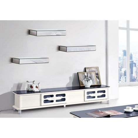 WestWood Mirrored Floating Shelves 3 Set MS01