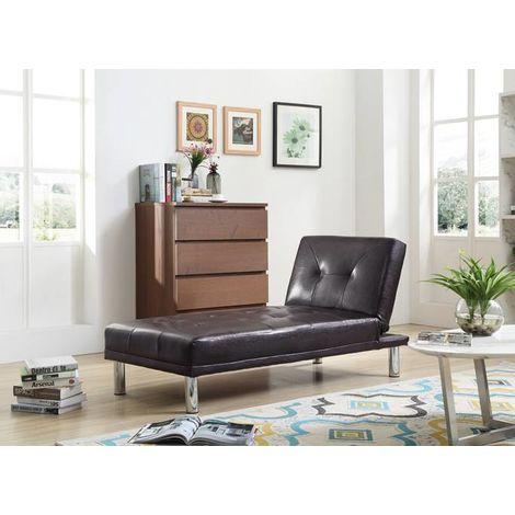 WestWood PU Single Sofa Bed PSB03 Brown