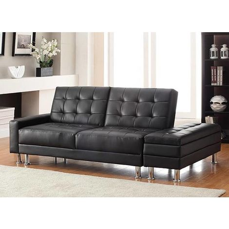 WestWood PU Sofa Bed With Storage PSB04 Black