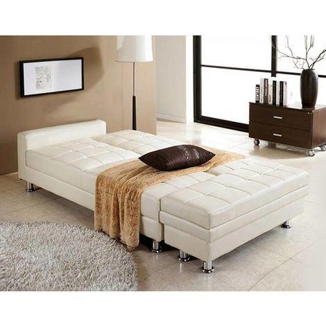 WestWood PU Sofa Bed With Storage PSB04 White