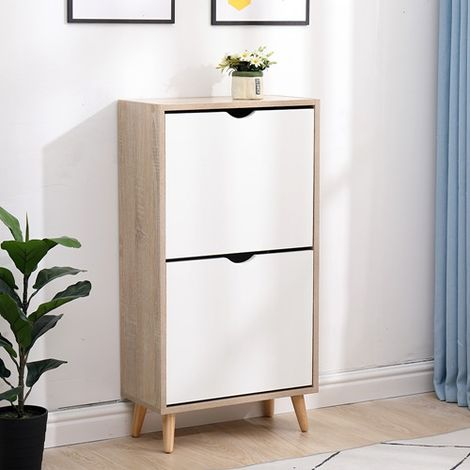 WestWood Shoe Cabinet WW-SCW11 Oak White