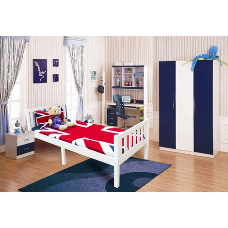 WestWood Single Pine Wooden Bed White PWB01