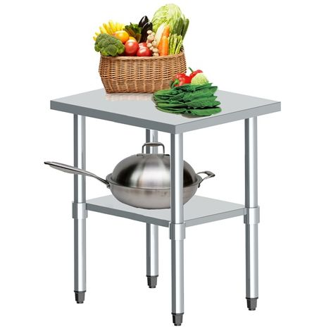 WestWood Stainless Steel Catering Table 2FT X 2FT