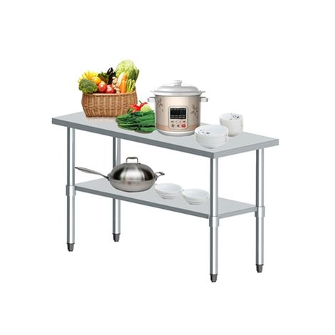 WestWood Stainless Steel Catering Table 2FT X 5FT